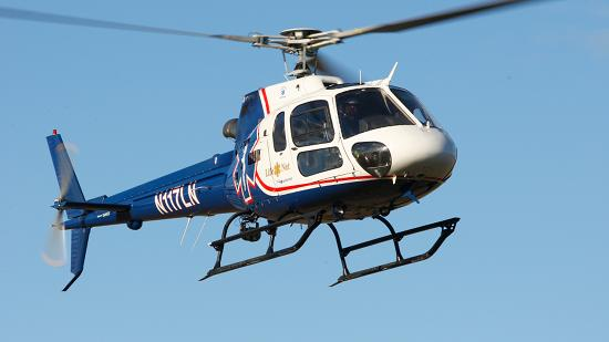 An Air Methods AS350 helicopter manufactured by American Eurocopter.