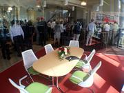 Several Beam Inc. employees and guests attended the reception following the ribbon-cutting ceremony.