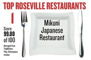 No. 1. Mikuni Japanese Restaurant, with an average score of 99.00 on a standardized 100-point scale from Yelp, TripAdvisor and Urbanspoon.