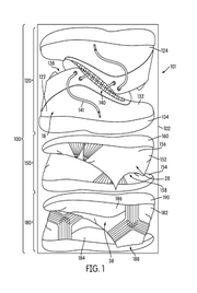 """I like to run. I like to lift weights. I like to play basketball. Each activity requires a different pair of shoes. Here's a possible solution. Nike patented shoes on Feb. 7 that feature """"interchangeable booties."""" For example, booties for activities with a lot of side-to-side movement - such as basketball - will provide more lateral support than booties used for running."""