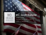 #7: Scott Banister  Angel investor  Donated $178,550 in 2012  100% to Republicans