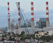 The FPL Port Everglades power plant, first the boilers go down.