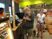 These customers are among the first to check out at Houston's new Petco Unleashed.