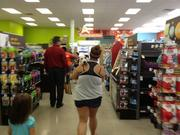 Pet owners showed up en masse to check out the new Petco Unleashed, though most of them seemed to keep their animals leashed.