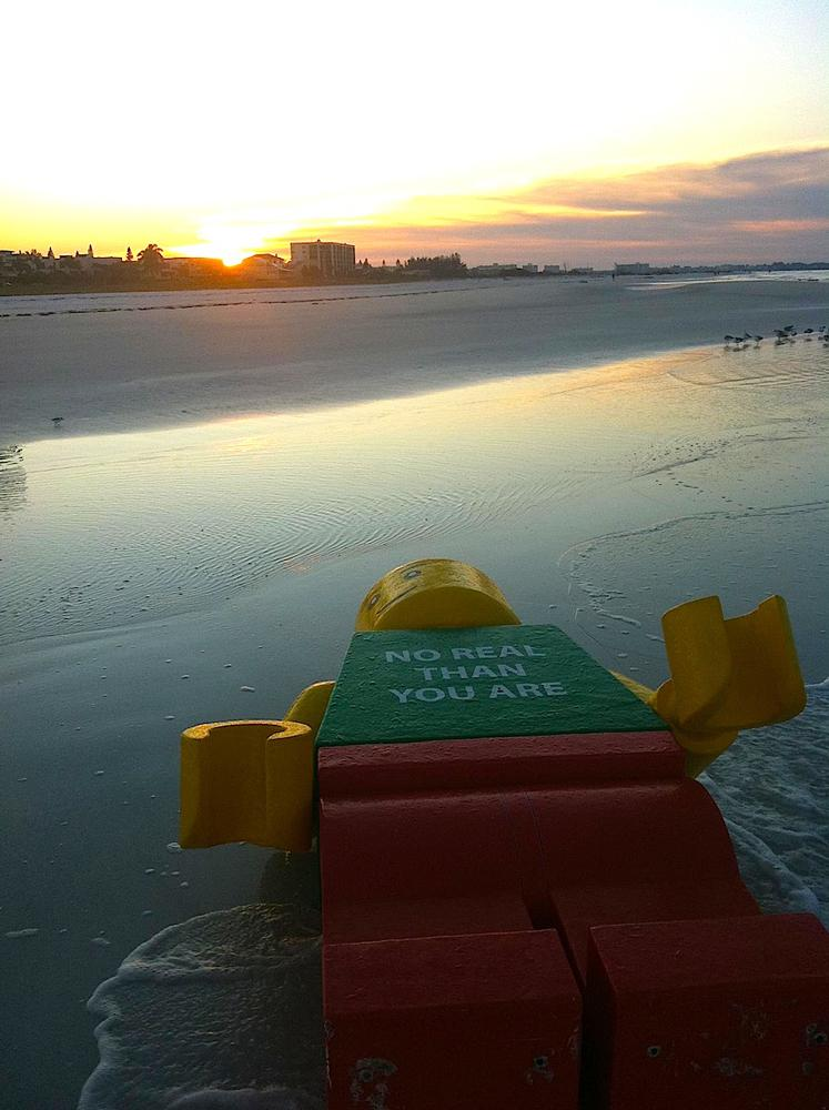 The Lego man washed up on Siesta Key Beach in October 2011