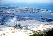 A bit of history: The FPL's Port Everglades power plant in about 1962. Port Everglades wasn't that busy back then, but is now a busy cargo, petroleum and cruise port.