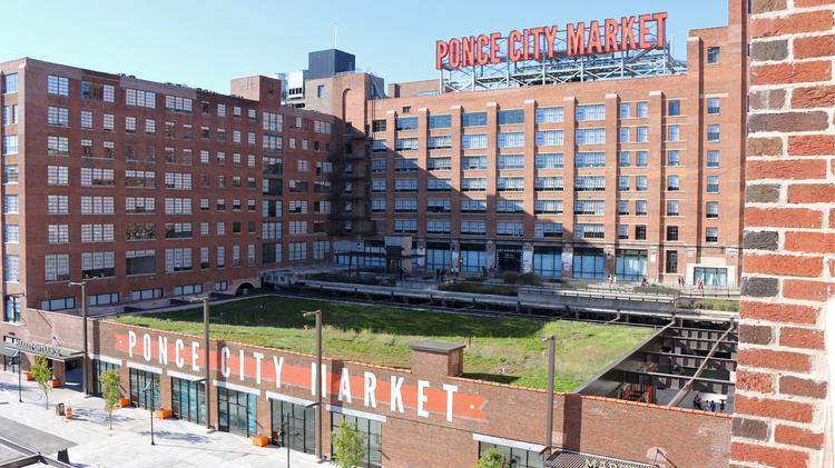 Newly opened at Ponce City Market are the first round of tenants at the Central Food Hall and the connection to the Atlanta Beltline's Eastside Trail.