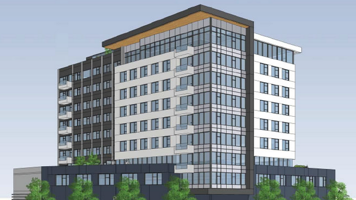 The nine-story building that can rise on 495 22nd St. has already been entitled. Lane Partners is set to buy the site.