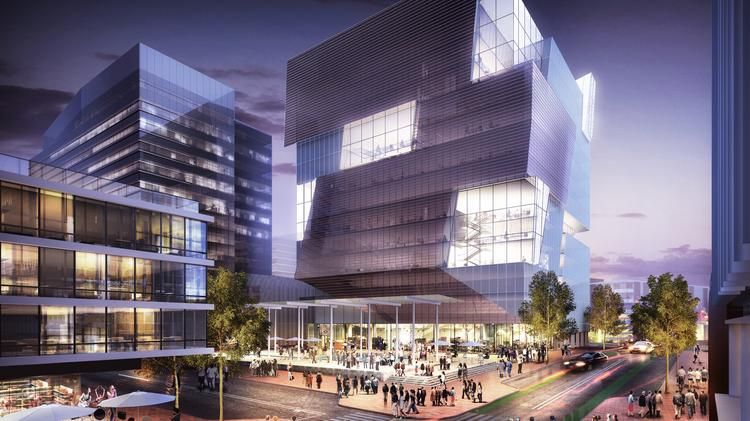 A rendering of uCity Square at 37th Street.