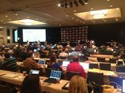 Media members await the start of the annual spectacle that is SEC Media Days.