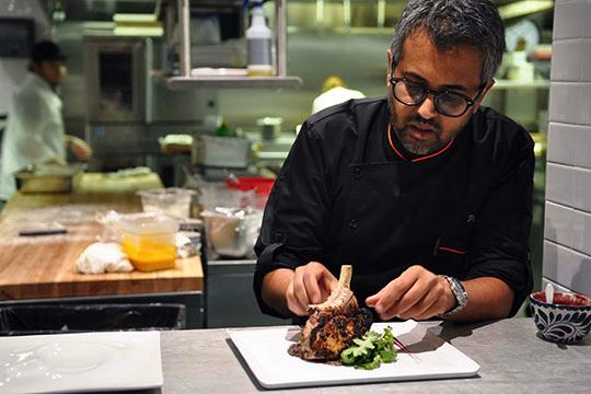 "Parind Vora of Restaurant Jezebel will compete on ""Chopped"" on the Food Network."