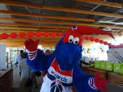 G-Wiz, the Washington Wizards mascot, welcomed Ward 8 residents to the St. Elizabeths Gateway Pavilion on Wednesday, Sept. 16, 2015. The District will build a 5,000-seat venue to serve as the home of the Washington Mystics and training home of the Wizards. An architect and program manager are now on board.