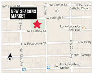 New Seasons Market will anchor a new development on the Conway property. Developer C.E. John is returning to its corporate roots; the Slabtown Marketplace project, which includes New Seasons as well as apartments and retail space, will continue under the leadership of Rob Hinnen and Tom DiChiara and a new capital partner.