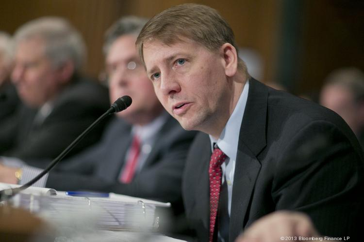 Consumer Financial Protection Bureau chief Rich Cordray says a study by his agency has found smaller banks bear a comparatively greater burden for regulatory compliance costs.