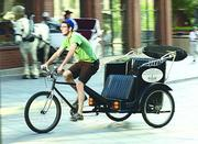 A pedicab on the 16th Street Mall.