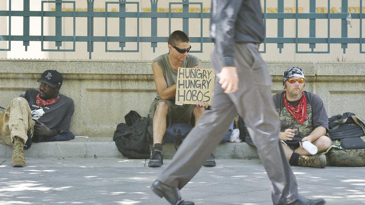 Denver's 16th Street Mall has been a popular hangout for the homeless.