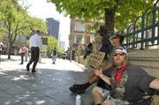 Kay Scott, Corey Hilsenbeck and Chip Tully are homeless and on the mall.