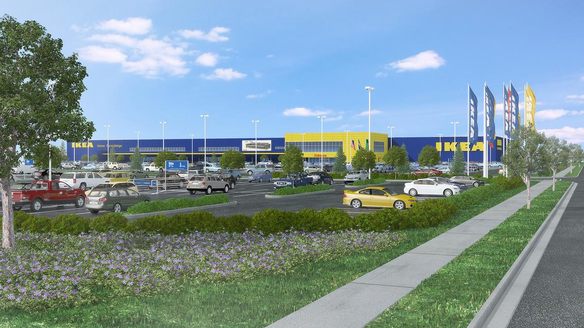 Renton Ikea Tops Off New Store With State S Largest