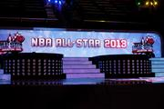 The stage at the NBA All-star game.