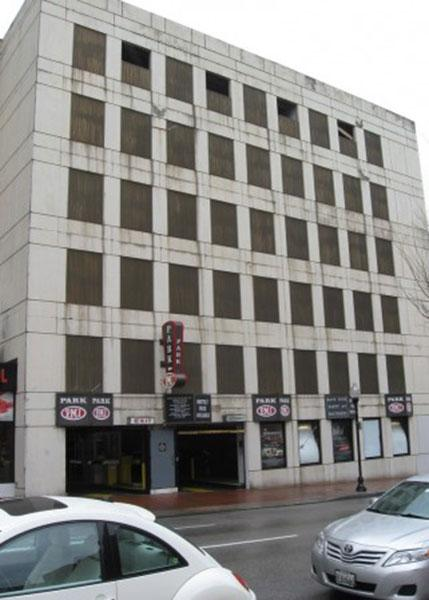 The parking garage at 1017 N. Charles St. in Mount Vernon is scheduled to be auctioned off April 25.