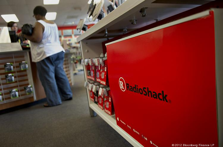 A customer pays for merchandise at a RadioShack Corp. store.