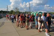 Fans had to wait in line outside Miller Park as McCartney's sound check went about 45 minutes longer than scheduled.