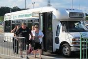 Many area bars and restaurants ran shuttles to the concert as a way to get fans to stop in.