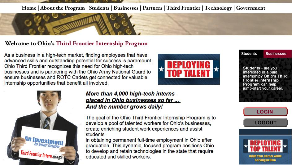 ohio third frontier restores internship program  commits to rural and minority outreach