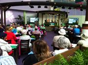 The folks from Harry P. Leu Gardens were on-site giving guests gardening tips.