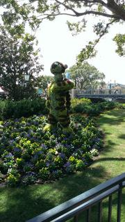 """How can you visit the International Flower & Garden festival and not say """"what's up"""" to Tigger?"""