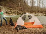 Founder Ryan Cart was inspired to launch Camping with Dogs after his own experience camping with his dogs.