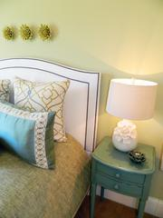 Locust Creek Home No. 6: Headboard and end table in bedroom