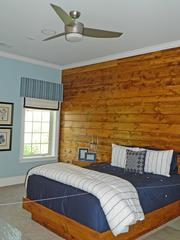 Locust Creek Home No. 6: Lower level bedroom with lodge theme