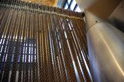 Citizen Inc. used a rope curtain as a divider between its break room and lobby of its Northwest Portland offices.