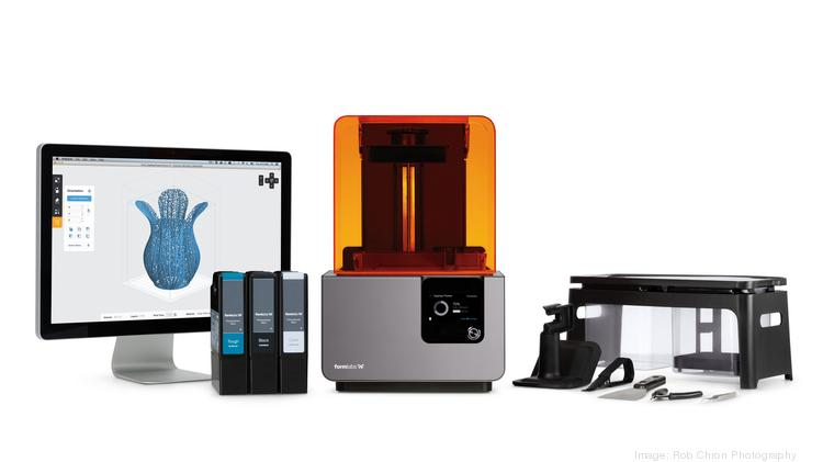 Somerville-based 3-D printing company Formlabs on Tuesday debuted the Form 2, its newest 3-D printing device, which can turn it into bigger prints, smarter components and an intuitive printing experience for pros.
