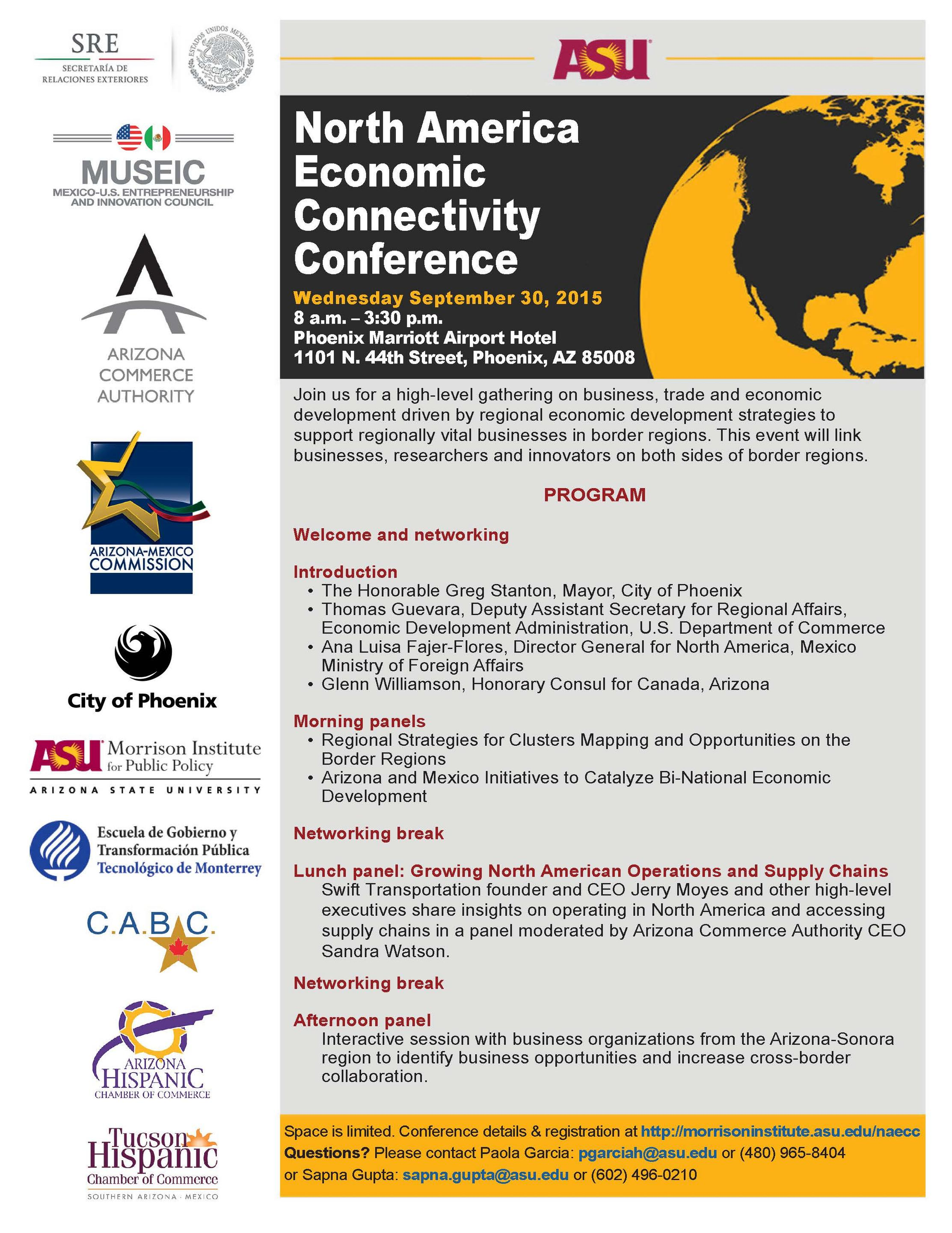 North American Trade The Focus Of Asu Morrison Institute Conference