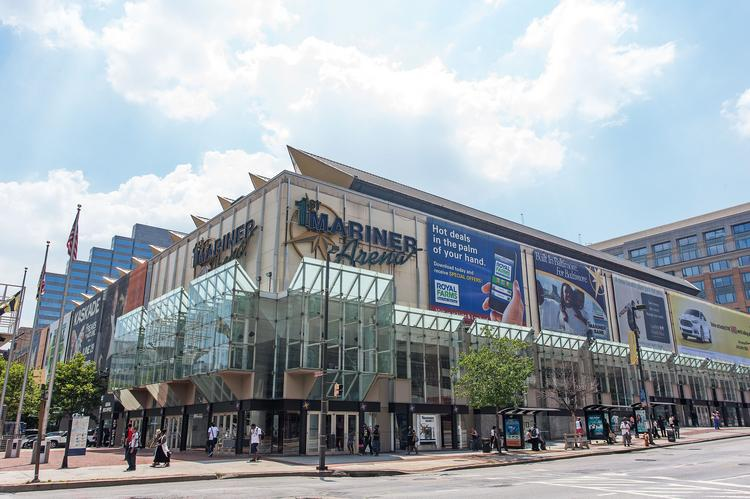 Despite what the sign still says, you shouldn't call it First Mariner Arena anymore. It's the Baltimore Arena now.