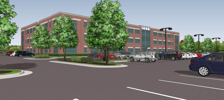 A rendering of the $15 million office that will be built for Volvo Group North America in High Point.