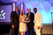 Mary and John Brock, middle were co-chairs. Far left, Shawn Wilson president of Usher's New Look Foundation; far right, Usher Raymond IV, founder.