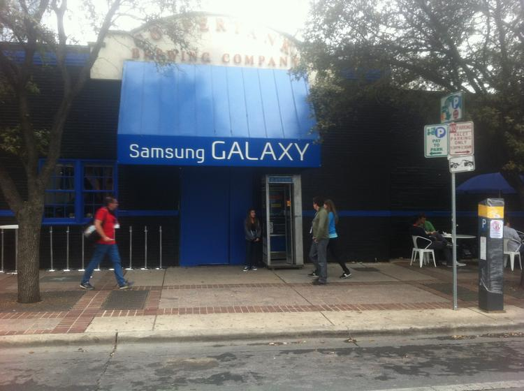 Samsung showed off its Galaxy phone by renting, re-painting and essentially gutting The Copper Tank Brewery building.