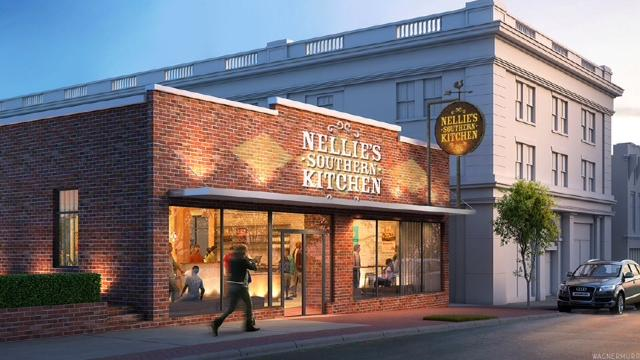 Rendering: Nellie's Southern Kitchen will feature Southern-style cuisine inspired by family recipes.