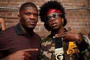 Houston Texans player Andre Johnson and rapper Trinidad James at All-Star Party hosted by Trinidad James, Andre Johnson and Jas Prince