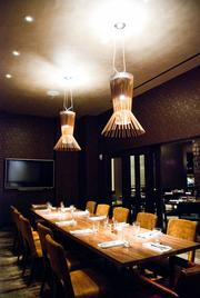 The private dining room in the new Mason's restaurant, previously Eat.