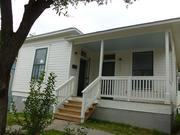 Here's one of the restored homes. Almost of all of them have charming front porches.