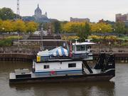 The 38-year-old Becky Sue is getting new engines in an effort to cut pollution on the Mississippi River.