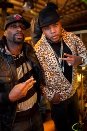 DJ Irie and rapper Flo Rida at All-Star Party hosted by Trinidad James, Andre Johnson and Jas Prince