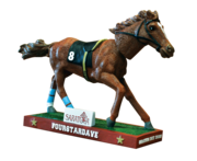 "3: Bobble-headed champ As part of Saratoga Race Course's 150th anniversary, one of the giveaways at the track will be Fourstardave bobble heads. The New York-bred was a fixture in Saratoga, winning a race here for eight consecutive years.  Nicknamed ""The Sultan of Saratoga,"" Fourstardave generated $1.6 million in career earnings before passing away in October 2002. The 2013 track giveaway dates: Sunday, July 28 – Saratoga Short Sleeve T-Shirt Sunday, Aug. 11 – Fourstardave Bobblehead Sunday, Aug. 18 – Saratoga Race Course Replica Model Sunday, Sept. 1 – Saratoga Beer Stein"