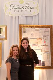 Engaged magazine hosted three bridal showcases March 3 at three of the Washington region's top wedding venues: the Willard Intercontinental Hotel, the St. Regis Hotel and the Decatur House. Heidi Kallett, left, of the Dandelion Patch with an employee.