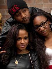 Singer Christina Milian with guests at All-Star Party hosted by Trinidad James, Andre Johnson and Jas Prince
