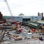 Though still under construction, convention center is booking dates